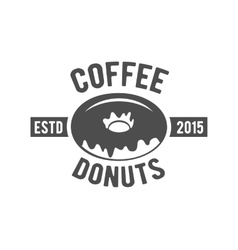 Vintage coffee badge logotype vector
