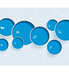 Web design with blue bubbles vector image vector image