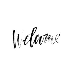 welcome greeting card with vector image