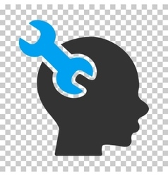 Brain Service Wrench Icon vector image vector image