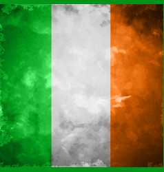 crumpled flag of ireland vector image