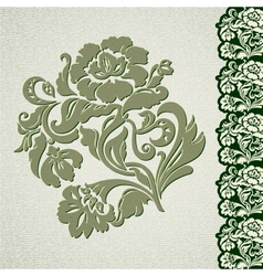 Flower vintage lace vector image
