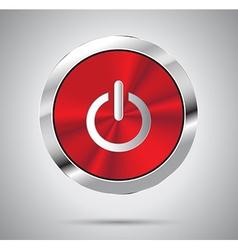 Metallic power icon vector image