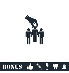 Recruitment icon flat vector image