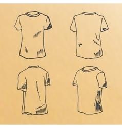t-shirt design templates sketch vector image vector image