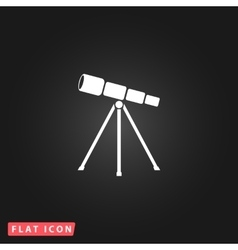 Telescope flat icon vector image vector image