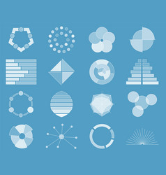business chart collection set of graphs data vector image