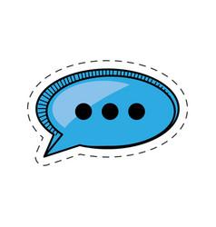 cartoon bubble speech communication talk vector image