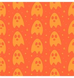 Cartoon halloween ghosts seamless pattern vector