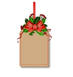 Christmas decoration with bow vector