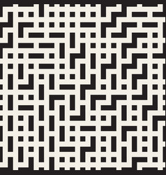 Irregular maze lines seamless black and vector