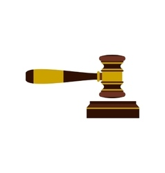 Judges gavel icon flat style vector image vector image