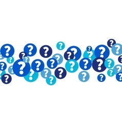 Question marks in blue circles vector image