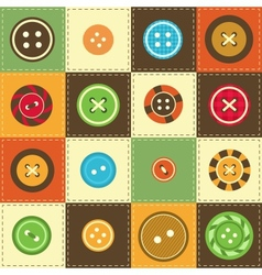 various sewing buttons vector image vector image