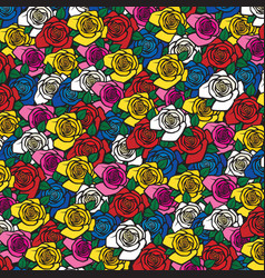 background pattern with roses vector image vector image