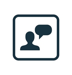 conversation icon Rounded squares button vector image