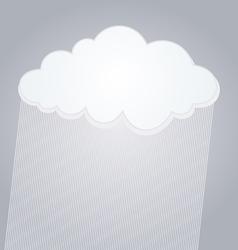 raining cloud vector image vector image