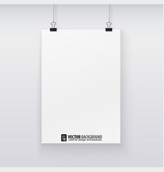 template of a paper sheet for your design vector image