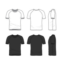 templates of blank t-shirt vector image vector image