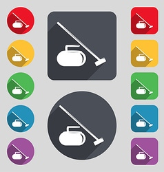 The stone for curling icon sign A set of 12 vector image