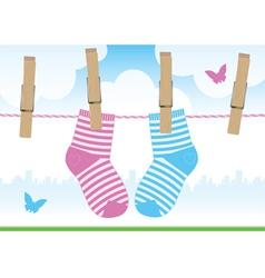 clothespins socks vector image vector image