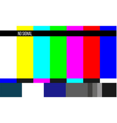 creative of no signal tv test vector image