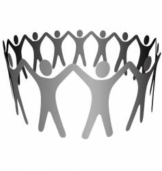 group symbol people hold hands vector image vector image