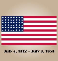Historical us flag vector