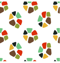 mosaic element pattern vector image vector image