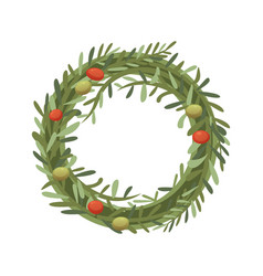 rosemary wreath in cartoon vector image