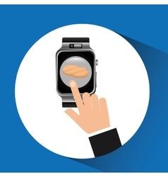Smart watch pharmacy health technology vector