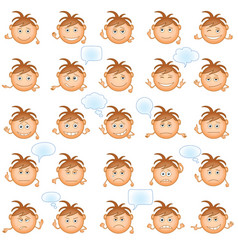 smilies set vector image