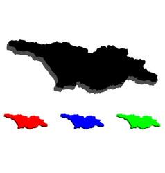 3d map of georgia vector image