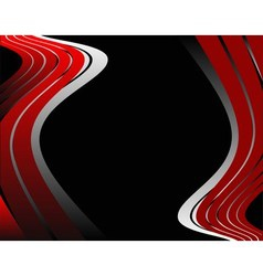 Abstrack wave red and black background vector