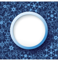 Abstract winter frame with snowflakes vector