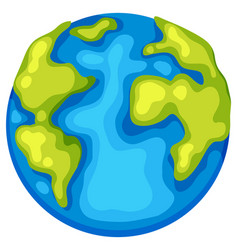 an earth day template vector image