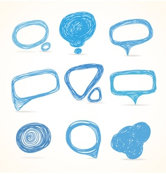 Background of abstract talking bubble vector image vector image