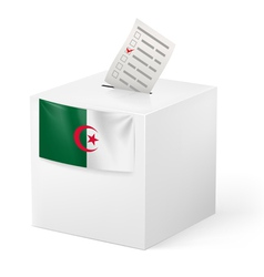 Ballot box with voting paper Algeria vector