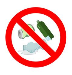Ban throw garbage sign vector