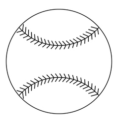 Baseball ball icon outline style vector