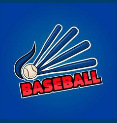 Baseball word and equipment vector