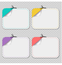 Blanks advertising coupon cut from sheet of paper vector