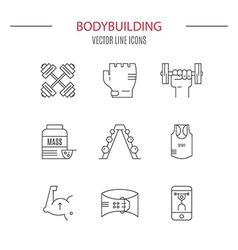 Bodybuilding Icons vector