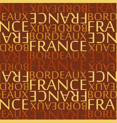 Bordeaux france seamless pattern vector