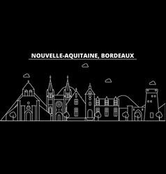 bordeaux silhouette skyline france - bordeaux vector image