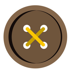 brown clothing button icon isolated vector image