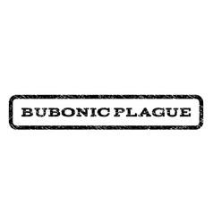 bubonic plague watermark stamp vector image