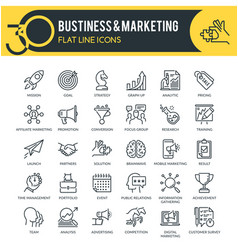 Business and marketing outline icons vector