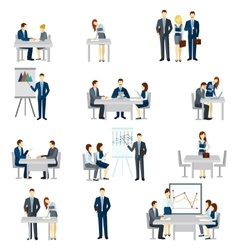 Business Coaching Icons Set vector image