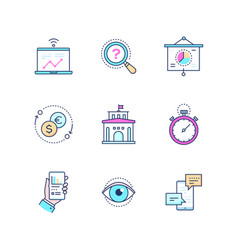 business concepts - set line design style icons vector image